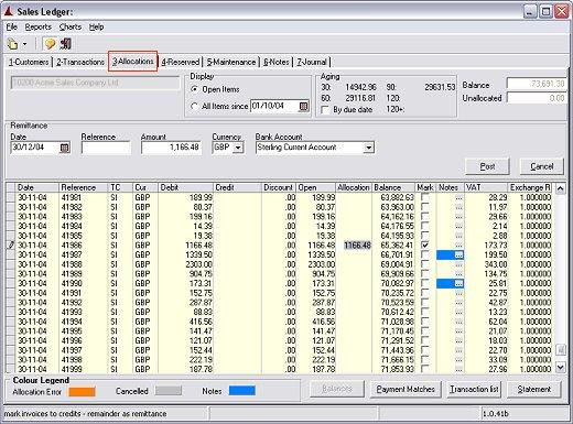 Sales Ledger Format Sales Ledger Module